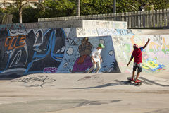 A skate park in Durban Royalty Free Stock Images