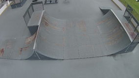 Skate park in Florida aerial view Stock Photography
