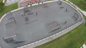 Skate park in Florida aerial view Royalty Free Stock Photo
