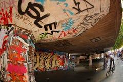 Skate park graffiti Stock Images