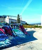 Skate Park. Graffiti skate park city lisbon Royalty Free Stock Photography