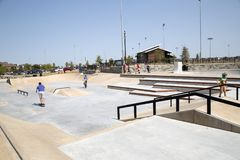 Skate Park at Northeast Community Park exterior Stock Photo