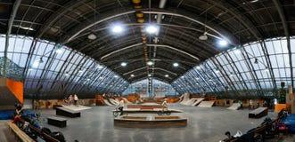 Skate park panorama royalty free stock photos
