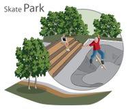 Skate Park sketch Stock Photos