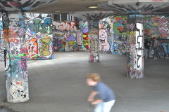 Skate Park South Bank Centre London Urban Art Sreet Art Stock Photography
