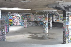 Skate Park South Bank Centre London urban art Royalty Free Stock Images