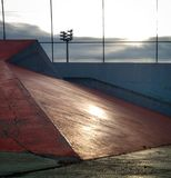 Skate park. Sunset reflection with good composition Royalty Free Stock Photography