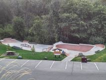 Leavenworth Washington skatepark royalty free stock image