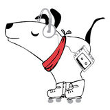 Skate puppy Royalty Free Stock Images