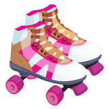 Skate retro design. A roller skate classic commonly used and popular in the 70s and 80s, even early 90s. Vector Royalty Free Stock Photography