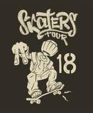 Skate rider t-shirt graphics design vector illustration.  Royalty Free Stock Image