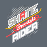 Skate Rider t-shirt typography Stock Images