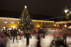 Skate rink in Budapest Stock Images