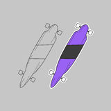 Skate roxo Fotografia de Stock