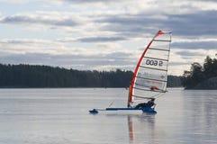 Skate sailing Stock Photo