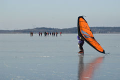 Skate sailing and tour skaters Royalty Free Stock Images