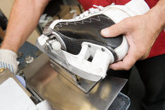 Skate sharpening Stock Photography