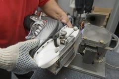 Skate sharpening stock images