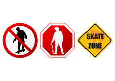 Skate signs Stock Photography