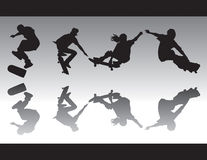 Skate Silhouettes IV Royalty Free Stock Photography