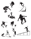 Skate Silhouettes X stock photo