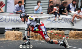 Skate Slalom European Cup Royalty Free Stock Photo