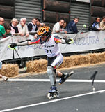 Skate Slalom European Cup. European Cup male and female of Skate Slalom in Genoa Italy (31, May 2009). Athletes from Italy, Germany, Sweden, Switzerland and royalty free stock photos