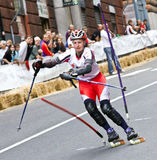Skate Slalom European Cup. European Cup male and female of Skate Slalom in Genoa Italy (31, May 2009). Athletes from Italy, Germany, Sweden, Switzerland and stock photo