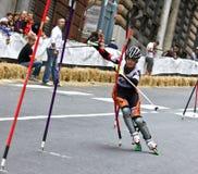Skate Slalom European Cup Stock Photography