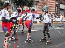 Skate Slalom European Cup Royalty Free Stock Image