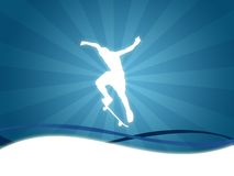 Skate sport background Royalty Free Stock Photography
