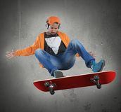 Skate stunts Stock Images