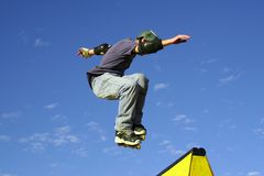 Skate tips. Roller Blade Jumps Stock Image
