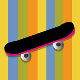 Skate toy. Abstract skate toy on special colorful background Royalty Free Stock Images