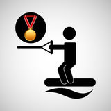 Skate water medal sport extreme graphic Stock Photography