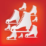 Skate web icon. This is file of EPS10 format Royalty Free Stock Photo