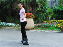 Skate woman Stock Photography