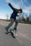 skateboard αγοριών Στοκ φωτογραφίες με δικαίωμα ελεύθερης χρήσης