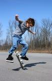 skateboard αγοριών Στοκ Φωτογραφίες