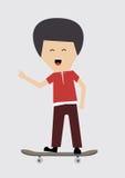 Skateboard αγόρι Στοκ φωτογραφία με δικαίωμα ελεύθερης χρήσης