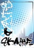 skateboard αφισών 2 ανασκόπησης γκρά&ph Στοκ φωτογραφία με δικαίωμα ελεύθερης χρήσης