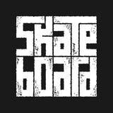 Skateboard γραφική παράσταση τυπογραφίας Έννοια στο εκλεκτής ποιότητας ύφος Στοκ εικόνα με δικαίωμα ελεύθερης χρήσης