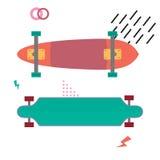 Skateboard επίπεδο σχέδιο γραφείων Να κάνει σκέιτ μπορντ την έννοια εξοπλισμός Στοκ εικόνα με δικαίωμα ελεύθερης χρήσης