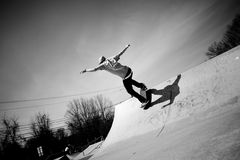 skateboard κεκλιμένων ραμπών Στοκ Εικόνες