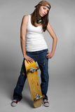 skateboard κοριτσιών Στοκ εικόνες με δικαίωμα ελεύθερης χρήσης