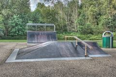 Skateboard πάρκο Στοκ Εικόνες
