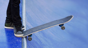 Skateboard. Close up with a skateboard stock image