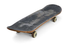 Skateboard. Old used skateboard isolated on white royalty free stock photography
