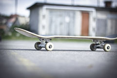 Skateboard. Lying on the asphalt stock photo