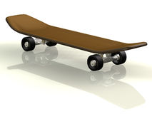 Skateboard. 3d concept illustration white background Royalty Free Stock Photos